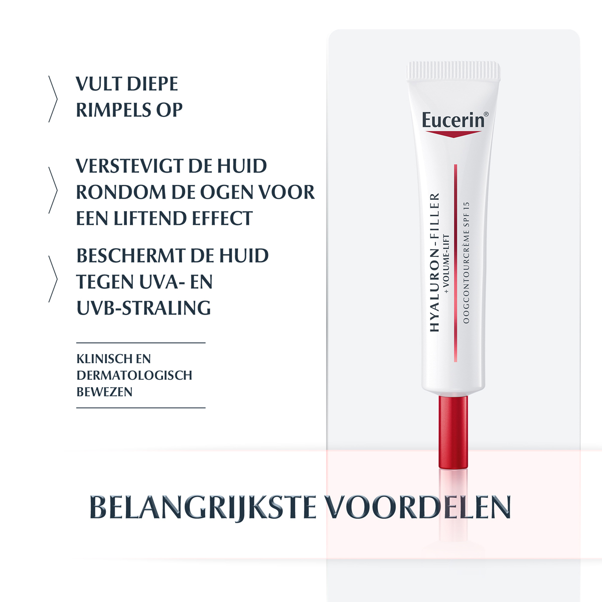 Eucerin Hyaluron-Filler + Volume-Lift Oogcrème Spf15 (15ml)
